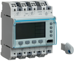 EG403E Weekly time switch 4 channels,  digital,  4 modules