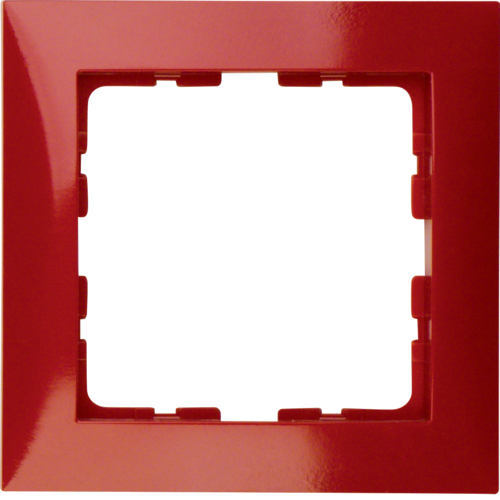 10118962 Frame 1gang,  S.1, red glossy