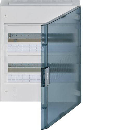 VB218W Small distributor,  vega,  surface, 2row, 36M,  IP40, QC-terminal,  PE,  transparent door